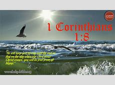 Bible Verse of the day – 1 Corinthians 1:8 | Holy Bible Hebrews 12:14