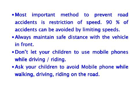Importance Of Road Safety In India Essay by Road Safety Highway Safety Tips For Parents And Teachers How To Pr