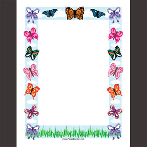 butterfly border template free printable page borders