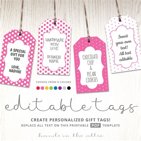 print your own gift labels self sufficiency editable gift tags gift tag template text editable polka