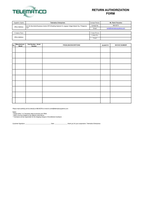 Rma Document Template sle invoice template pdf blank best free home
