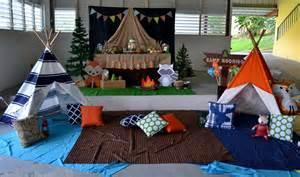 theme decorating partylicious woodland cing birthday