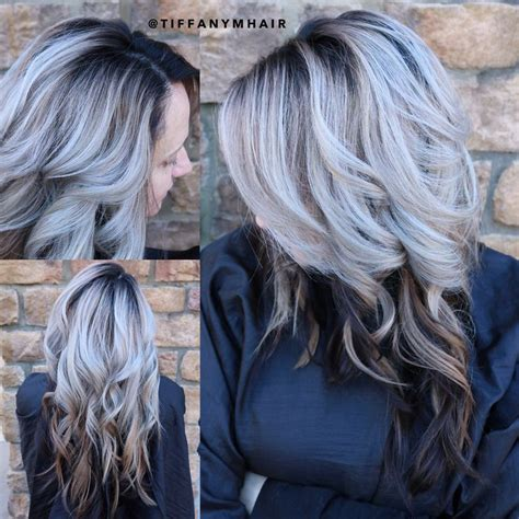 silver blonde root shadow hair ideas pinterest shadow root silver hair by massey07 our work