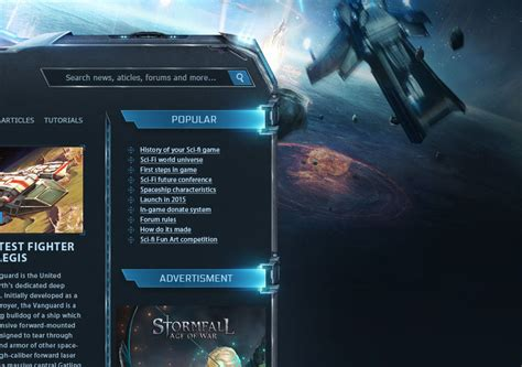 html game themes star citizen scifi game wordpress theme
