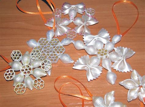 christmas ornaments made from pasta christmas pinterest