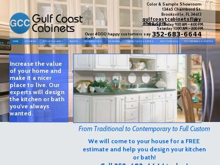 gulf coast cabinets brooksville fl gulf coast cabinets cabinetry and countertops