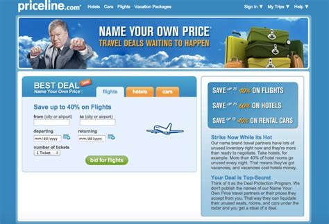 priceline ends quot name your own price quot for flights insideflyer