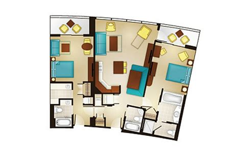 bay lake tower 2 bedroom floor plan bay lake tower at disney s contemporary resort dvc