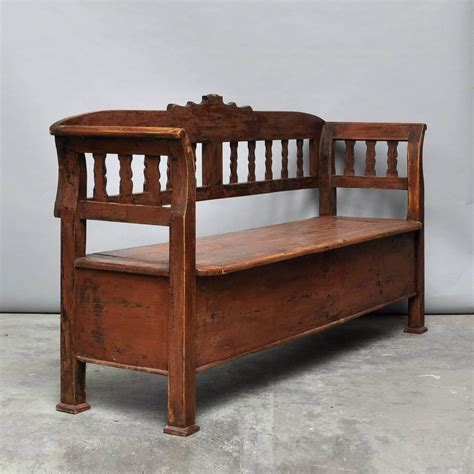 storage benches for sale antique storage bench with original paint circa 1920 for