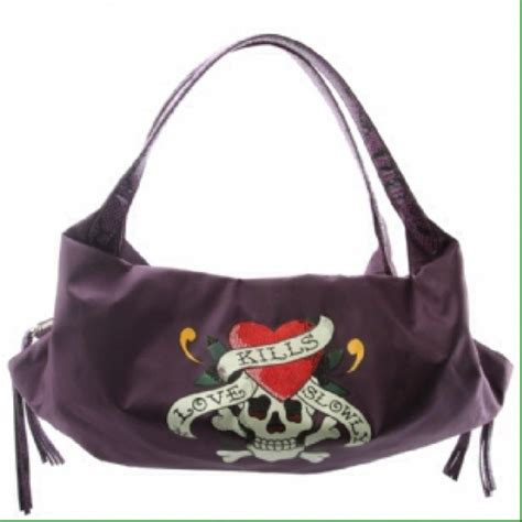 Hardy Bag 2 Boston Handbag by 76 Ed Hardy Handbags Purple Ed Hardy Purse