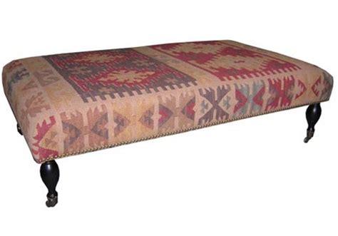 Kilim Ottoman Restoration Hardware Editeestrela Design