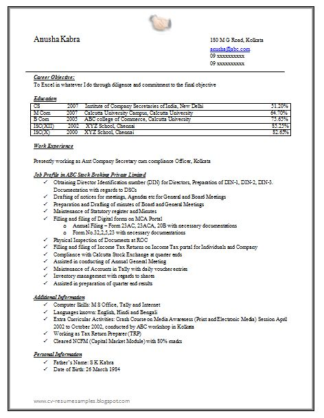 Resume Templates Docs In by 10000 Cv And Resume Sles With Free Company Resume Sle Doc