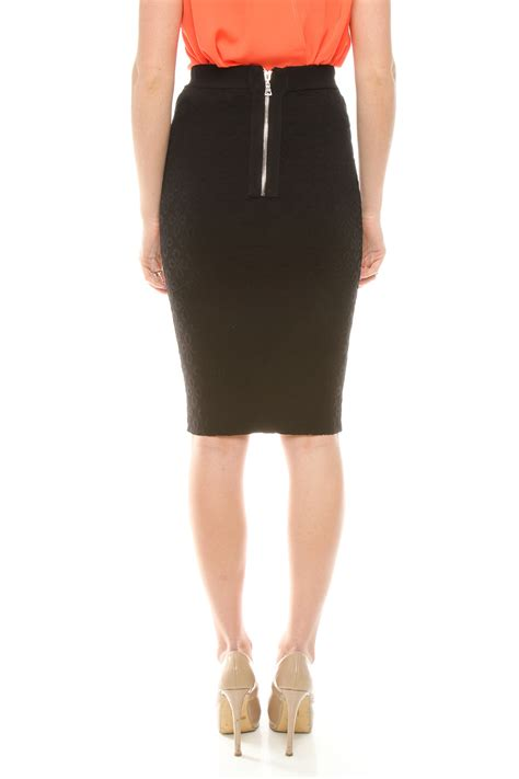 torn by ronny kobo eyelet pattern pencil skirt from