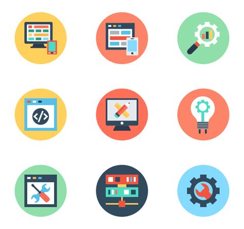 design development icon web design icons web development icons 726 free vector