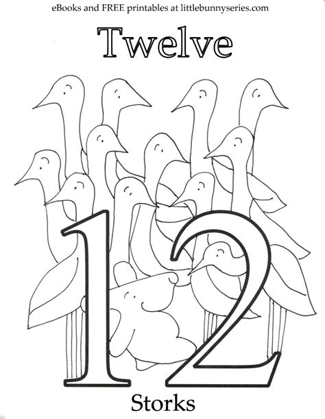 coloring pages of number 12 coloring pages little bunny series