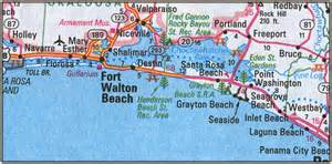 map of emerald coast florida quot santa sound and the gulf islands florida fly