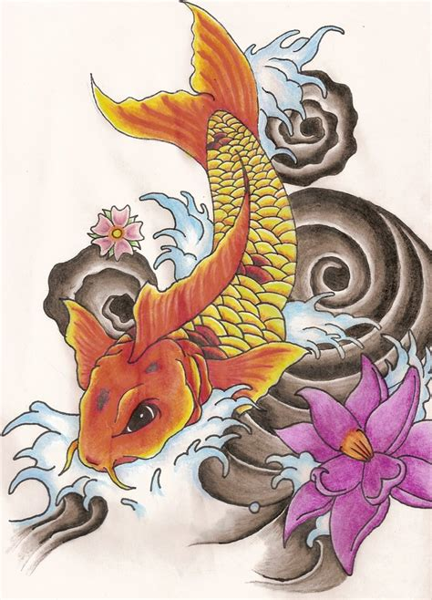 koi tattoo design by soldadoporvida on deviantart