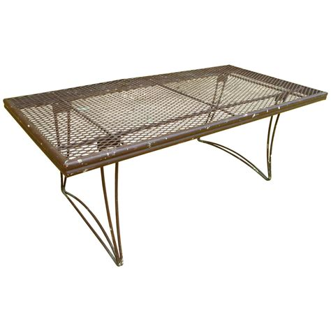 metal outdoor coffee table brown perforated metal outdoor coffee table at 1stdibs