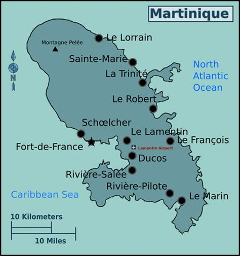 martinique map map of martinique with cities martinique map with cities vidiani maps of all countries