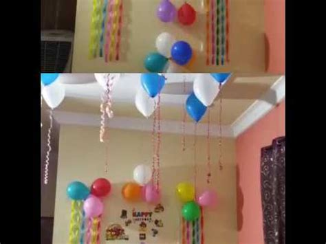 decorations at home birthday decoration ideas at home youtube