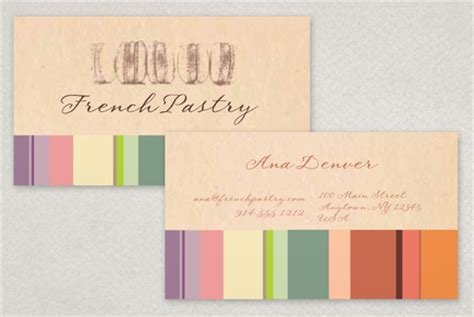 Free Pastry Business Cards Templates by Pastry Bakery Business Card Template Inkd