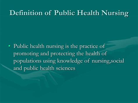 ppt the of nursing in health powerpoint