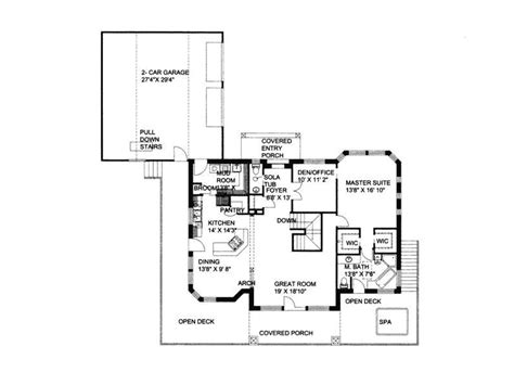 waterfront floor plans small house plans walkout basement waterfront house floor