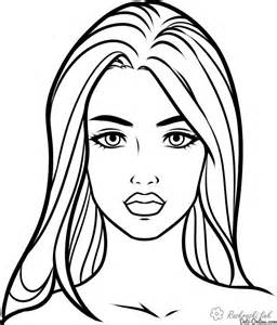 Girl Face Coloring Page Coloring Home