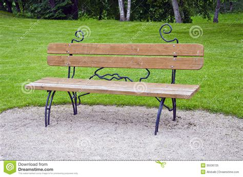 decorative park bench wooden decorative bench at a park royalty free stock photo