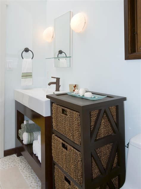 wicker baskets for bathroom storage photos hgtv