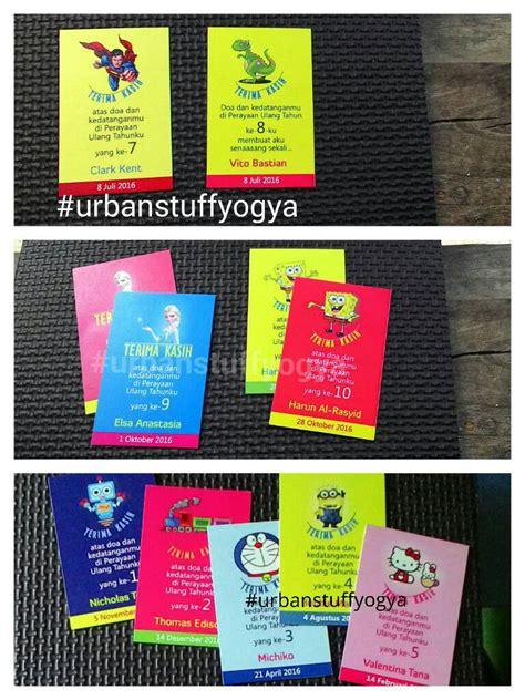 Kartu Ucpan Terima Kasih 1 jual kartu ucapan terima kasih utk souvenir goody bag