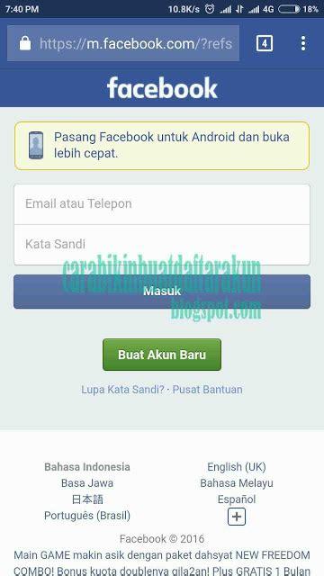 buat akun facebook indonesia cara daftar facebook buat akun fb bahasa indonesia
