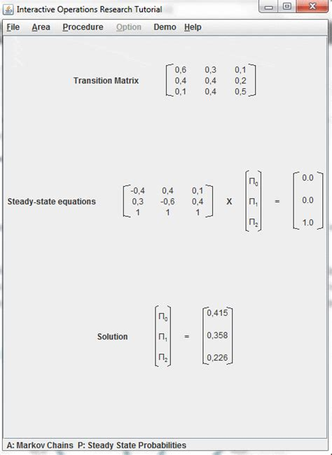software cadenas de markov cadenas de markov ejercicios resueltos