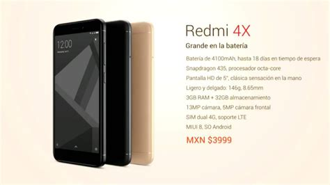 Headset Bluetooth Xiaomi Redmi 4x xiaomi redmi 4x caracter 237 sticas y precio para m 233 xico