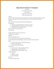 Resume Templates On 9 High School Student Resume Template Ats Resuming
