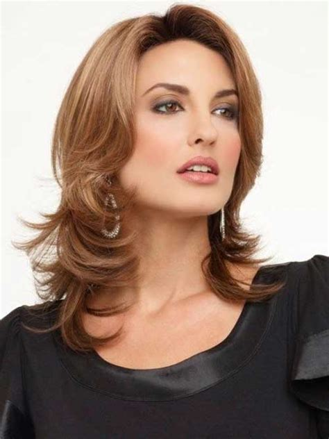 shoulder length lightly layered hair square face 20 medium lenght hairstyles hairstyles haircuts 2016