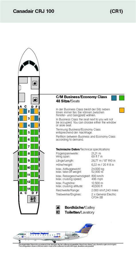 crj 100 seating lufthansa german airlines aircraft seatmaps airline