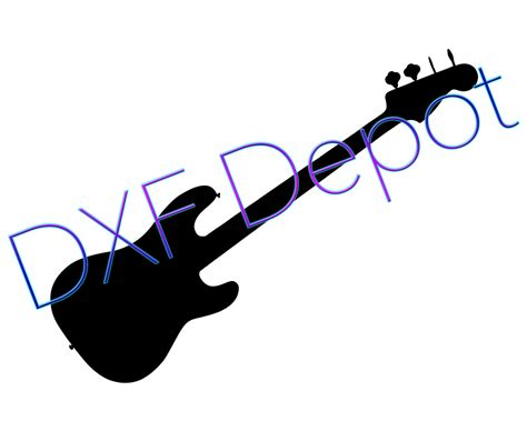 eps format in dxf guitar dxf format cnc cut file vector art clip art