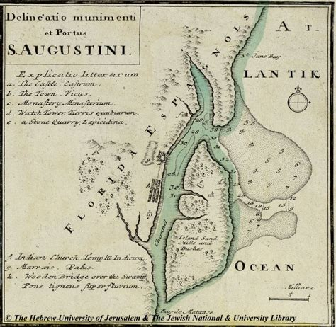 map of st augustine 1759