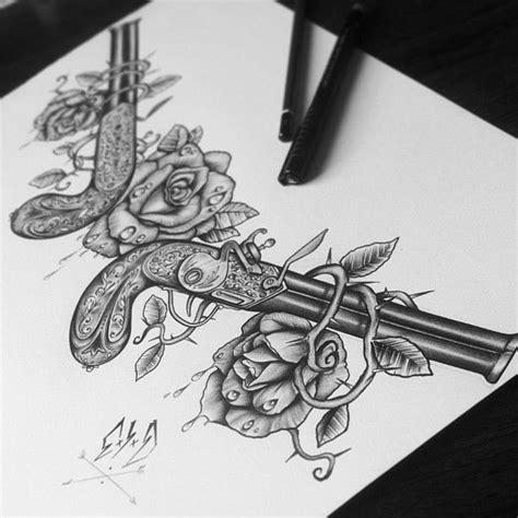 tattoo gun blueprint chest design for client c x i x d by edwardmiller