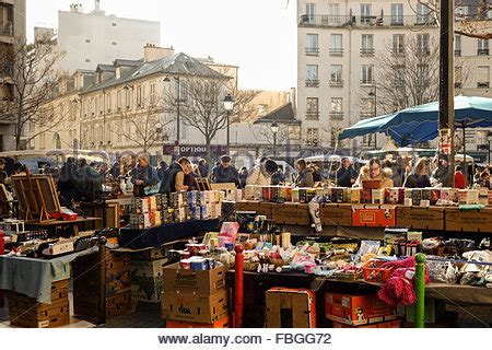 markets of paris second france paris outdoor second hand clothes and shoes street market stock photo royalty free