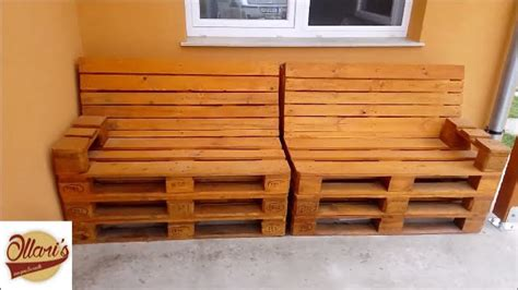 how to make a pallet sofa how to build a pallet sofa step by step youtube