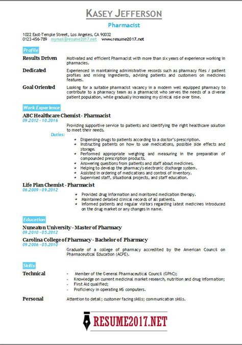 hospital pharmacist resume pharmacist resume sample medical pharmacy