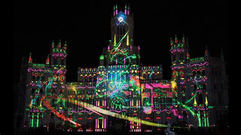 imagenes de navidad en 3d el palacio de cibeles da la bienvenida a la navidad con un