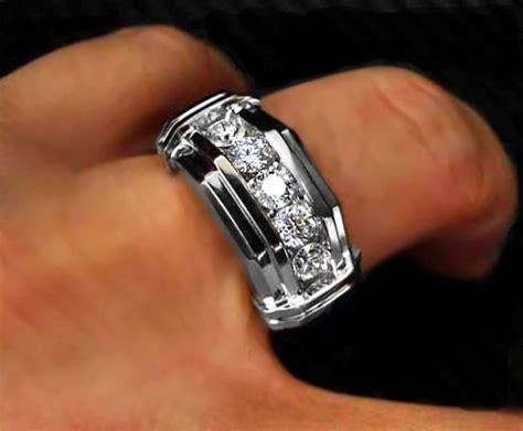 1000  ideas about Men's Diamond Rings on Pinterest   Unique mens wedding bands, Mens fashion