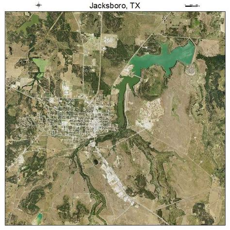 jacksboro texas map aerial photography map of jacksboro tx texas
