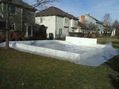backyard ice rink tarps backyard ice rinks liner method
