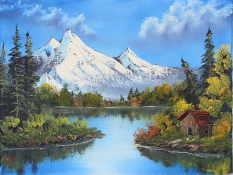 bob ross painting reflections landscape paintings landscape painting classes