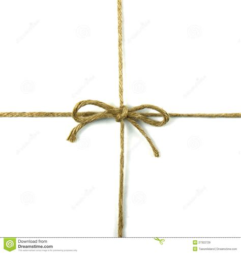 With String - string in a bow on white royalty free stock images