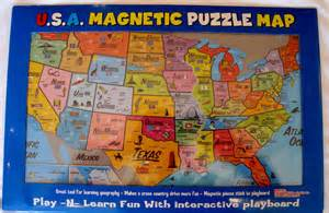 magnetic united states map for rv united states magnetic puzzle map learn states and